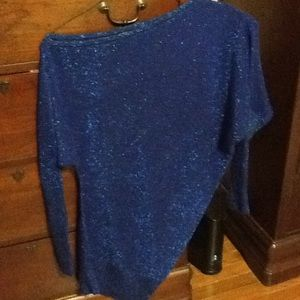 WOW Couture Blue off one shoulder Sweater